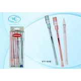 Ручка гелевая BASIR, 0,35 мм, прозр. корпус, цветной стержень,пастель-ассорти, цветной колпачок с ри