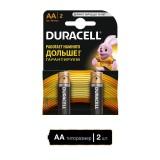 Элемент питания (батарейка алкалиновая) DURACELL LR6 (АА), (2 шт на блистере) (Цена за 2шт.) (450424