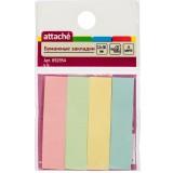 Закладки бумажные ATTACHE, с липким слоем, 12х50мм, 4цв. по 25шт. (692954)