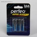Элемент питания (батарейка) PERFEO LR03 (AAA)/4BL Super Alkaline, (ЦЕНА ЗА 4шт.) (PF_3634) (ШК 46071