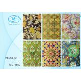 Блокнот BASIR 100л., 20*14 см.,обложка плотный картон, зол. фольгирование, с рисунком, ассорти, блок