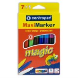 Фломастеры CENTROPEN MAXI MAGIC, 7+1, измен. цвет, толст. (8649/8 MG) (8649/7+1)
