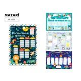 Расписание уроков А3 MAZARI,картон, ассорти 4 дизайна(M-1655)