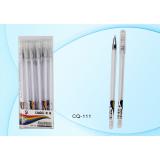 Ручка гелевая BASIR прозрачн.корпус,метал. наконечник, цвет чернил -белый (12) (CQ-111-12/белый/)