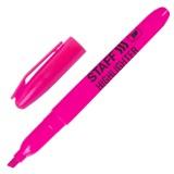 Маркер текстовый STAFF, 1--3мм, скошенный, розовый (151241)
