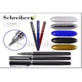 Ручка шариковая автоматическая SCHREIBER, повор. мех. металл.,пласт. футляр (S99099)