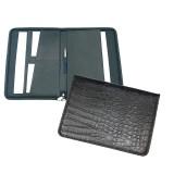 Папка КАНЦБУРГ, на молнии, 4 кармана, 250*350мм, искусств.кожа, черная (3Д01)