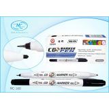 Маркер для CD/DVD BASIR, 2-сторонний, черный (10/720) (МС-160)