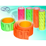Ценник цветной BASIR, 30х20 мм.,170 шт. (600) (МС-600)