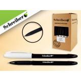 Ручка гелевая SCHREIBER, цветной корпус, черная (1/50) (S 235)