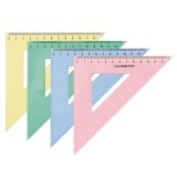 Треугольник пластиковый SchoolФОРМАТ, 45 градусов, 14 см, полупрозрачный, ассорти (30/600) (08.22.31