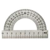 Транспортир стальной ПЧЕЛКА, 180 градусов, 10 см, серый (500/3000) (ТС-10) (058475)