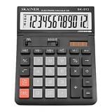 Калькулятор настольный SKAINER SK-512M, 12 разрядный., пластик, 140x176x45 мм, черный (SK-512M)