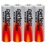Элемент питания (батарейка) PERFEO R6/4SH DYNAMIC ZINC  (ЦЕНА ЗА 4шт.) (PF_3648) (ШК 4607147636480)