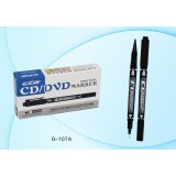 Маркер для CD/DVD BASIR, 2-сторонний, черный (G-107A/чёрн/)