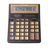 Калькулятор настольный CITIZEN SDC-888TIIGE 12-разрядный, 2 питания, 203х158х31, черный/золотой  (SD