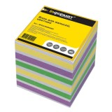Блок цветной бумаги для заметок inФОРМАТ, 80х80х80мм, 80гр., куб, проклеенный, 4 цвета (28) (NPG4-80