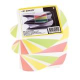 Блок цветной бумаги для заметок inФОРМАТ, 80х80х80мм, 80гр., спираль, проклеенный (15) (NPS4-808080)