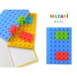 Блокнот MAZARI, 10.0 х 14.8 см, 100 листов, силиконовая обложка  (M-3577-H)