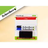 Набор маркеров для сухостираемых досок SCHREIBER, 2цв., с губкой (S 3632)