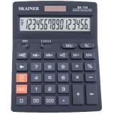 Калькулятор настольный SKAINER SK-116, 16 разрядный., пластик, 140x176x45 мм, черный (10/40) (SK-116