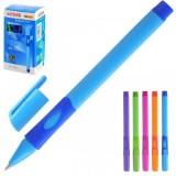 Ручка шариковая MAZARI, для ПРАВШЕЙ, 0.7мм, пластик, 5цв.ассорти, синяя (AT-1361 R)