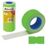 Ценник цветной BRAUBERG, 12*21мм, комплект 5 рулонов по 600 шт, зеленый (ЦЕНА ЗА 5 ШТ) (123571)