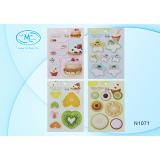 Закладки бумажные BASIR, с липким сл/ассорти/звёзд, квадр, круг, серд/7 блоков-20л (N1018) (N1071)