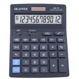 Калькулятор настольный SKAINER SK-111, 12 разрядный., пластик, 140x176x45 мм, черный (10/40) (SK-111