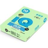 Бумага IQ COLOR A4 500л/пач 80 гр пастель зеленая (MG28) (65135)
