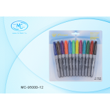 Набор маркеров перманентных BASIR, 12 цветов (1/100) (МС-95000-12)