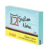 Блок бумаги для заметок EAGLE, с липким слоем, 51х75мм/100л., голубой, пастель (50/300) (656/гол) (0