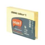 Блок бумаги для заметок EAGLE, с липким слоем, 51х75мм/100л., желтый, пастель (50/300) (656/жел) (03
