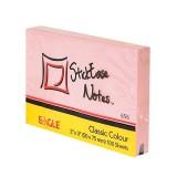 Блок бумаги для заметок EAGLE, с липким слоем, 51х75мм/100л., розовый, пастель (50/300) (656/роз) (0
