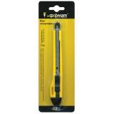Нож канцелярский inФОРМАТ, 9мм, комбинированный, усиленный, фиксатор желтый (24/480) (СВ0902) (05382