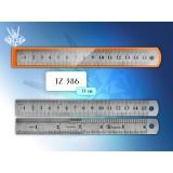 Линейка металлическая TUKZAR, 15см, двухсторонняя, с двойной шкалой (48/480) (TZ 386)