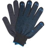 Перчатки с точкой ПВХ ЛАЙМА ЛЮКС, 116 текс., плотные, черные, ГОСТ (пара) (601914)