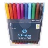 Набор линеров SCHNEIDER TOPLINER 967, 0,4 мм, 10 шт. в наборе, ассорти (1/10) (196790)
