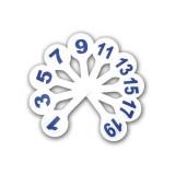 Касса-веер цифр ПЧЕЛКА, от 1 до 20 (НДС 10%) (100) (Ц-01) (072007)