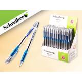 Ручка шариковая SCHREIBER, 0,5 мм, масляная, игольчатый наконеч.,синяя (24/1200) (S 400)