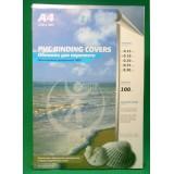 Обложки для переплета А4 РЕАЛИСТ, 180мкм, прозр., ПВХ (ЦЕНА ЗА 100 ШТ) (4376)