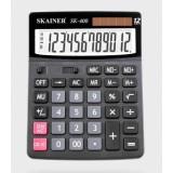 Калькулятор настольный SKAINER SK-400L, 12 разрядный., пластик, 150x193x29мм, черный (10/40) (SK-400