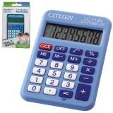 Калькулятор карманный CITIZEN LC110NRBL 8-разрядный,87х58х12, синий (LC110NRBL)