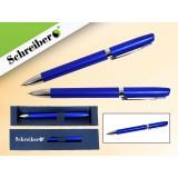 Ручка шариковая металлическая SCHREIBER, в футляре, синий  корпус, синяя (24/480) (S 3532)
