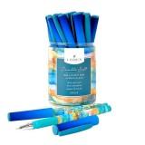 Ручка шариковая LOREX WATERCOLOR.BLUR 0,70 мм синий резин. грип кругл. корп. (LXOPDS-WT1) (189558)