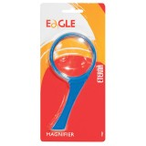 Лупа EAGLE, 75мм, 2х/4х-кратная с ручкой, синий пластик (72/288) (TY07/с) (030564)