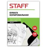 Бумага копировальная STAFF, 100 листов, черная (126527)
