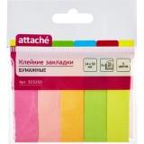 Закладки бумажные ATTACHE, с липким слоем, 14х50мм, 5цв. по 50шт. (1/48/864) (353250)