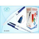 Ручка шариковая BASIR, белый корпус, синий колпачок, синяя (ММС-2019A/4000/)
