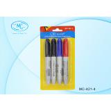 Набор маркеров перманентных BASIR, 3 цвета (2-чёрных, 1-красный, 1-синий) (1/240) (МС-421-4)